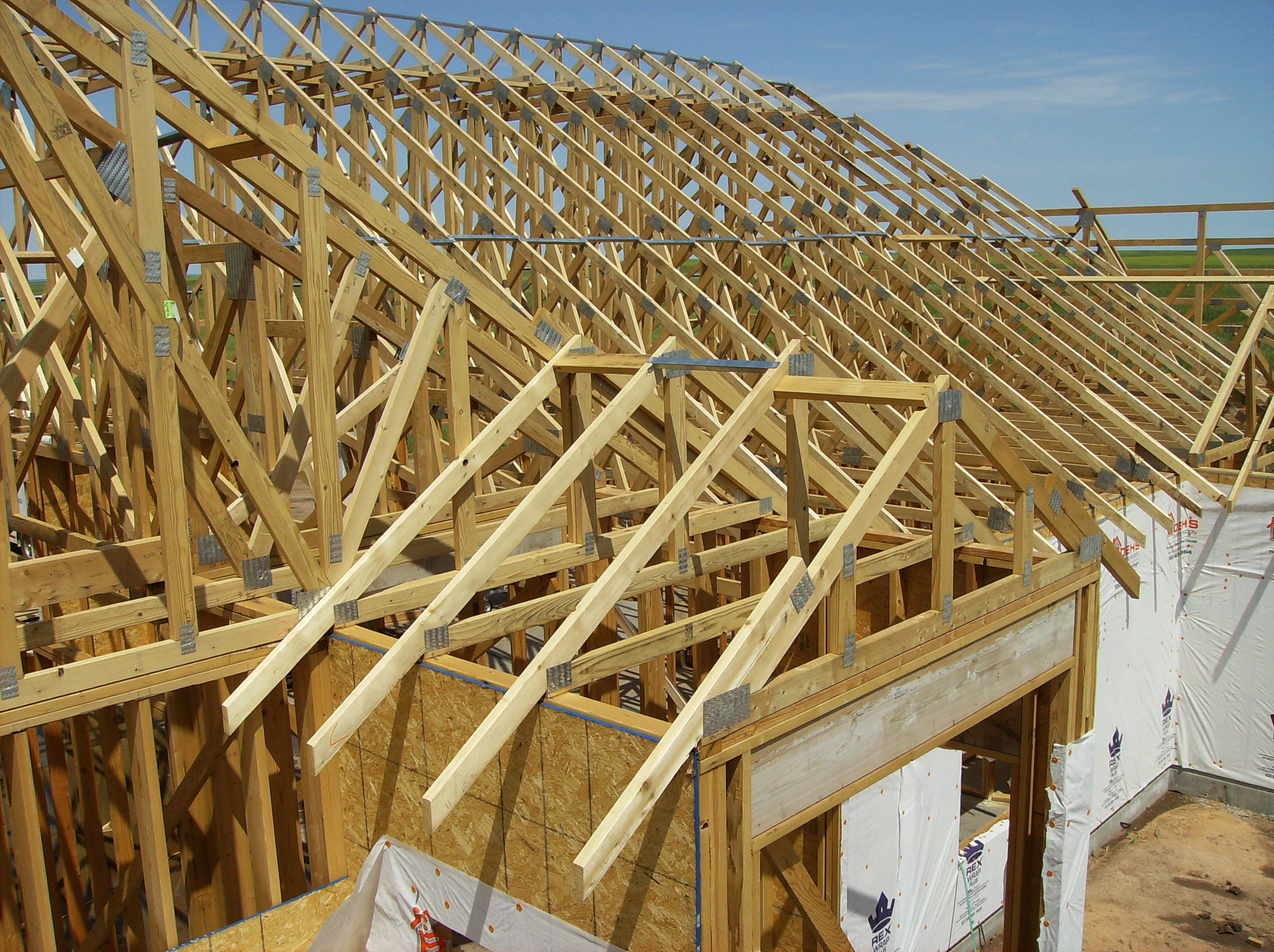 How much do trusses cost an approximate guide - Build wood roof abcs roof framing ...