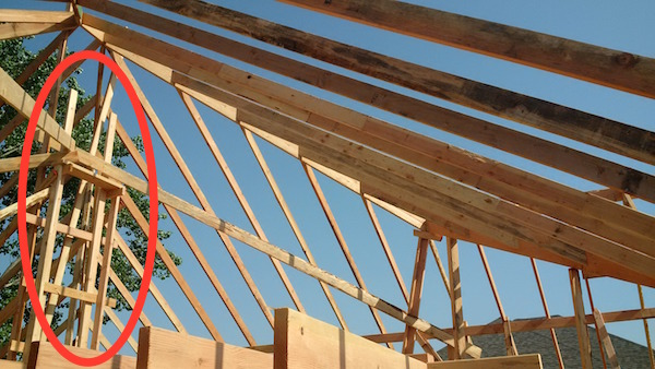 Differences between trusses stick framing common for Manufactured roof trusses
